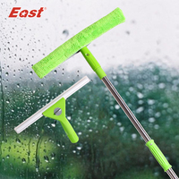 East Super Changeable Window Glass Squeegee High Quality Natural Silica Gel Microfiber Scraper For Home Cleaning