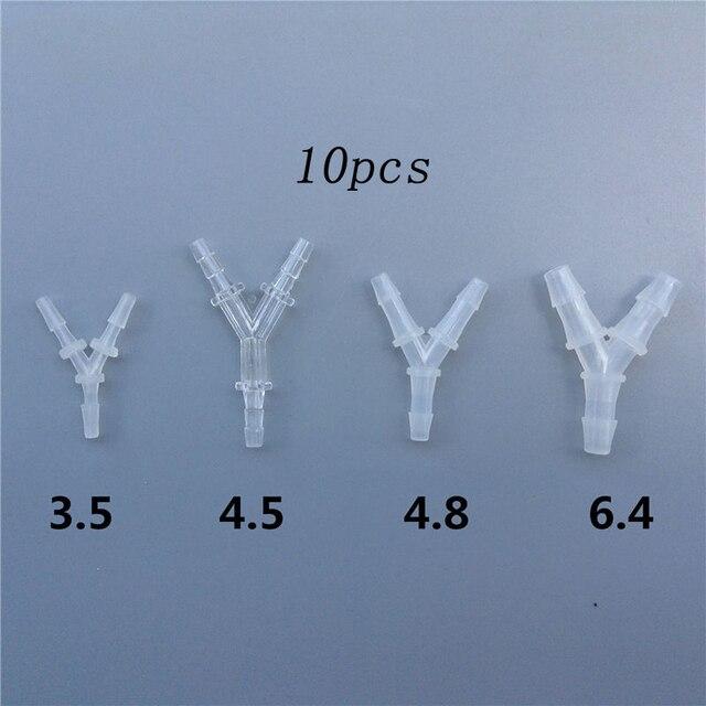 10 piezas de Nylon en forma de Y conector de divisor de combustible tubo de refrigeración de agua manguera Joiner tubo de agua de aire para barco RC CES partes del Motor