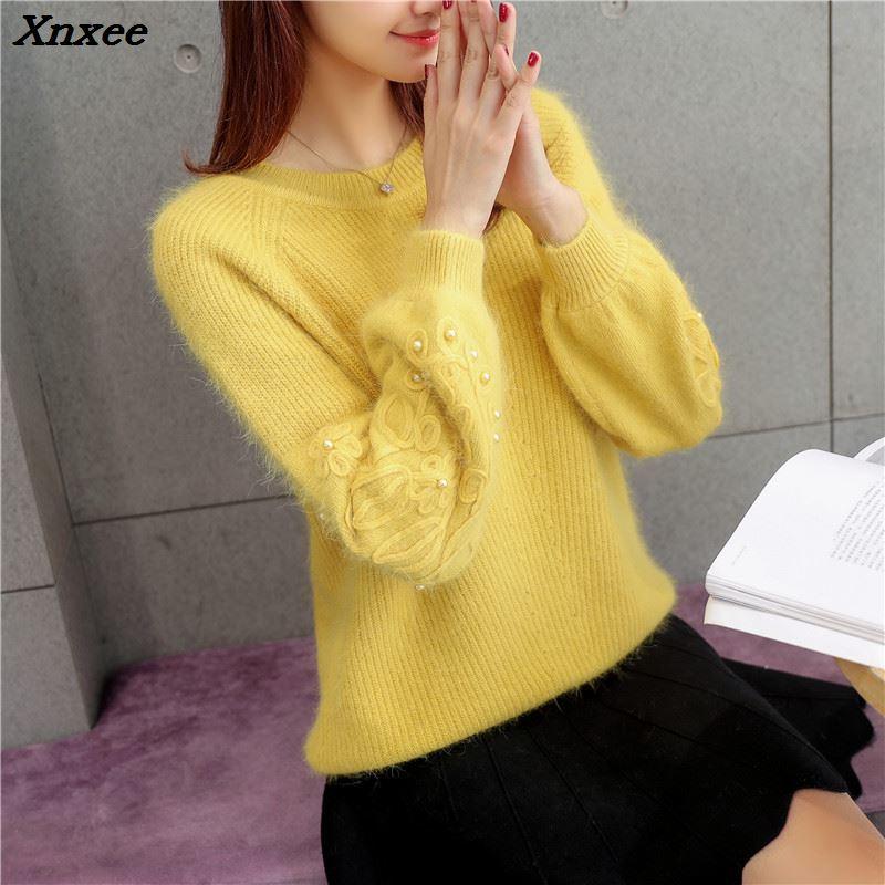 Xnxee new loose wool sleeves hook flower nail bead