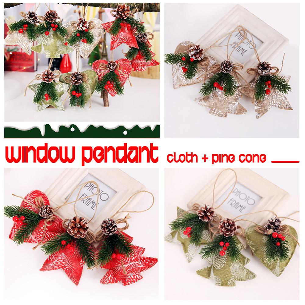 3pcs Christmas Decoration Pine Cones Pinecone Xmas New Year Holiday Party Decoration Ornament For Home Supplies
