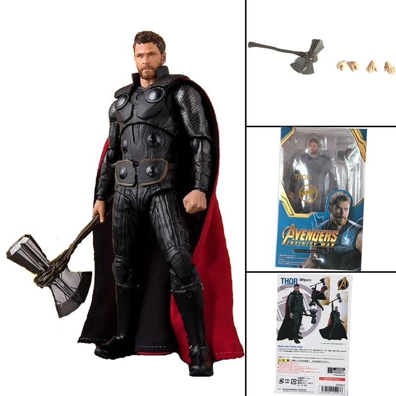 6inch SHF Movie Avengers Endgame Infinity War 4 Marvel Hero Thor Action Figure Model Toy Doll Gift