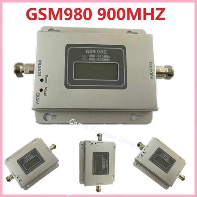 Nueva Pantalla LCD GSM 900 Mhz Teléfono Móvil GSM980 Amplificador de Señal de 70db, GSM Repetidor de Señal, Amplificador de Teléfono celular AL POR MAYOR
