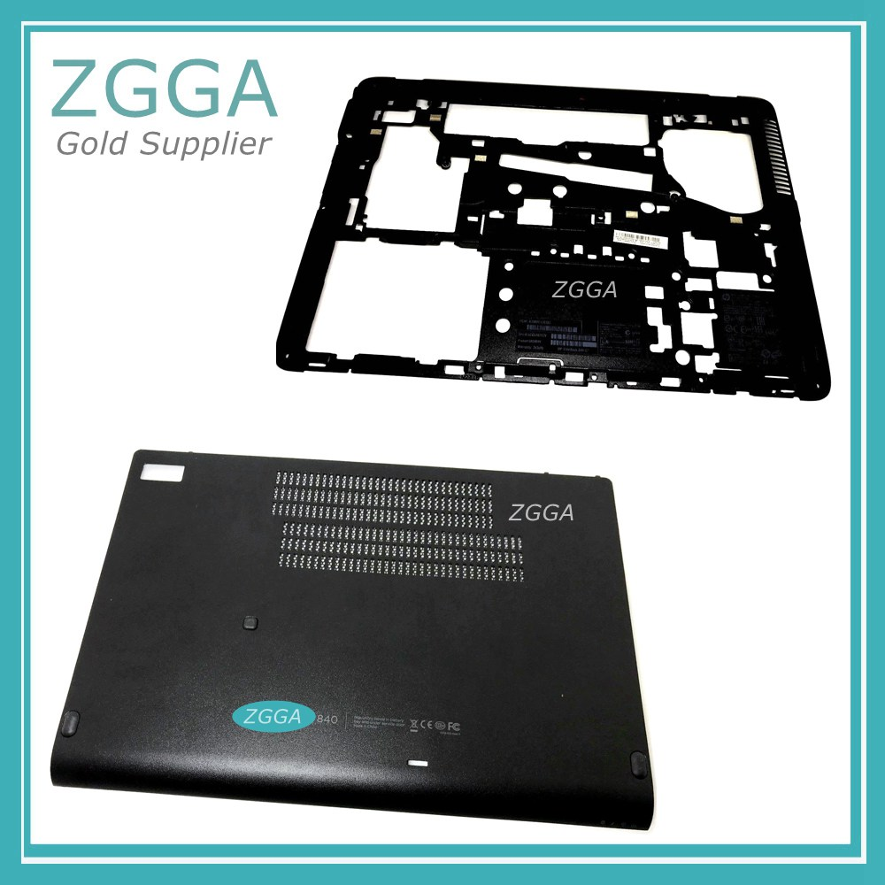 New Laptop Lower Case Genuine For HP EliteBook 840 G1 840G1 Base Bottom Cover &HD Hdd Cover Door Shell 730960-001 766324-001 gzeele new laptop bottom base case cover for hp for elitebook 8560w 8570w base chassis d case shell lower case 652649 001 black