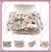 Aidocrystal Wholesale Women business card holders stainless steel Luxury Diamond bulk name card holder