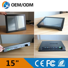 embedded PC 15″ i3 CPU 1.9GHz 4gb ddr3 32g ssd industrial panel pc touch screen Resolution 1024*768 Linux 1*RJ45 2*COM