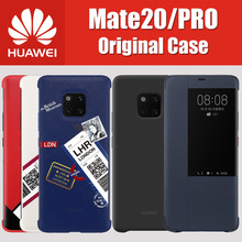 Shell of the Official 100% Huawei Mate 20 Pro Case Original Silicone For Huawei Mate20 Pro Leather Smart View Flip Cover