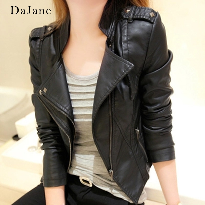 Explosion Models New Pu Motorcycle   Leather   Jacket Ladies Short Korean Version Of The Slim Short Jacket Small   Leather   Jacket Tide