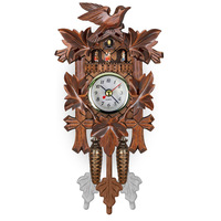 Europe vintage cuckoo wall clcoks Creative wood DIY wall watches antique clcoks wood decoration accessories dropshipping