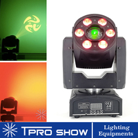 Mini Moving Head 30W Spot DJ Dmx Wash RGBW Lyre Head 2in1 Disco Light With Auto Music Dmx Control for Party Stage Club MH30SW