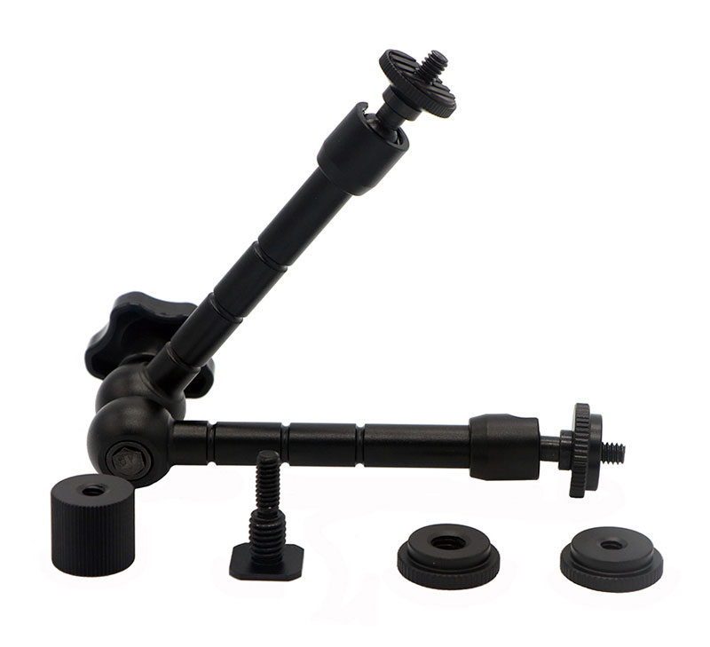 11 Inch Adjustable Friction Articulating Magic Arm + Super Clamp for DSLR LCD Monitor LED Flash Light Camera Accessories (6)