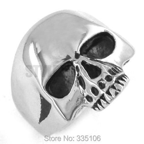 Classic Skull Biker Ring Stainless Steel Jewelry Punk Silver Black Gold Motor Biker Skull Ring Mens Boys Ring Wholesale SWR0036A