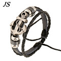 JS Fashion Bracelete Ancora Male Genuine Leather Multilayer Navy Anchor Bracelet Men Rock Women Nautical Jewelry LB051