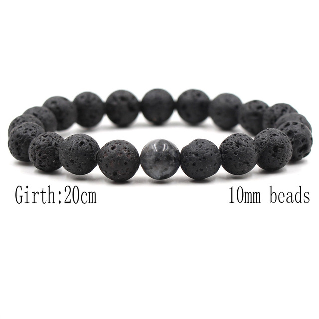 10MM Black Lava Stone...