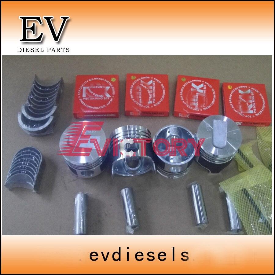 Pour Mitsubishi S4L S4L2 piston + piston full ring joint kit vilebrequin et bielle roulement