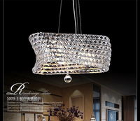 2014 Fashion modern restaurant crystal concept pendant light for dining room ,clear K9 crystal lampshade