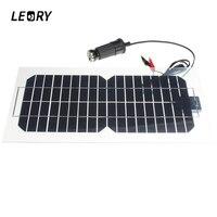 Leory 5.5 Вт 18 В кремния Панели солнечные полу-гибкий прозрачный монокристаллический солнечных батарей Защита от солнца engergy Мощность + 2 Зажимы ...