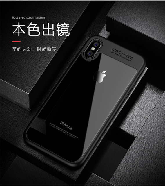 new arrival 5508f ecb1a US $6.99 |For iphone X case Ipaky soft silicone edge HD clear Acrylic back  cover case For iphoneX iX Shockproof 2in1 style back case-in Half-wrapped  ...