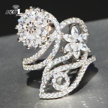 YaYI biżuteria księżniczka Cut 5 4 CT biały cyrkon kolor srebrny pierścionki zaręczynowe obrączki obrączki ślubne dziewczyny pierścionki Party prezenty tanie i dobre opinie Moda Zaręczyny Zespoły weselne Kobiety Cyrkonia TRENDY 20mm Prong ustawianie yayi jewelry Geometryczne HR766 Miedzi NONE