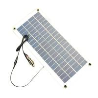Semi flexible 18V/5V 10.5W Portable Solar Panel Charger For 12V Car Boat Motor Battery Charger DIY Solar System NEW