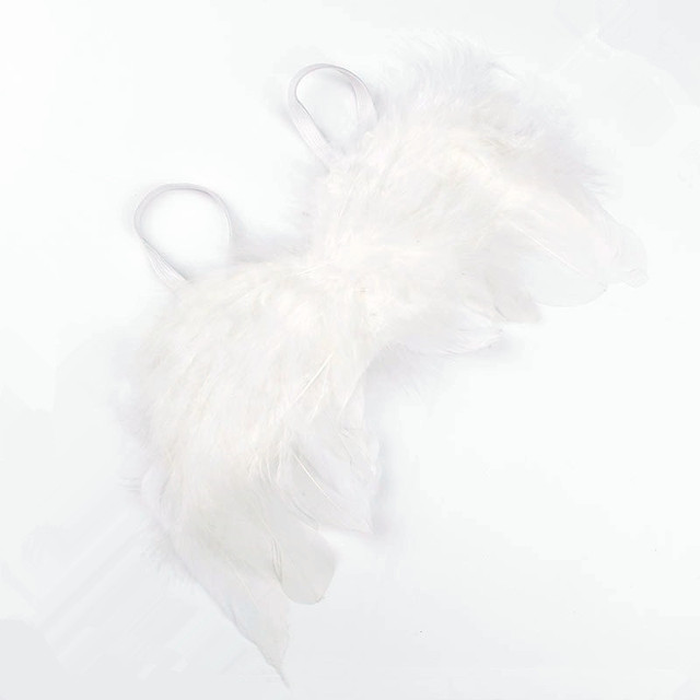 White Feather Angel Wings Newborn Back Accessories Infantil photosprops bebe foto prop Baby photographers