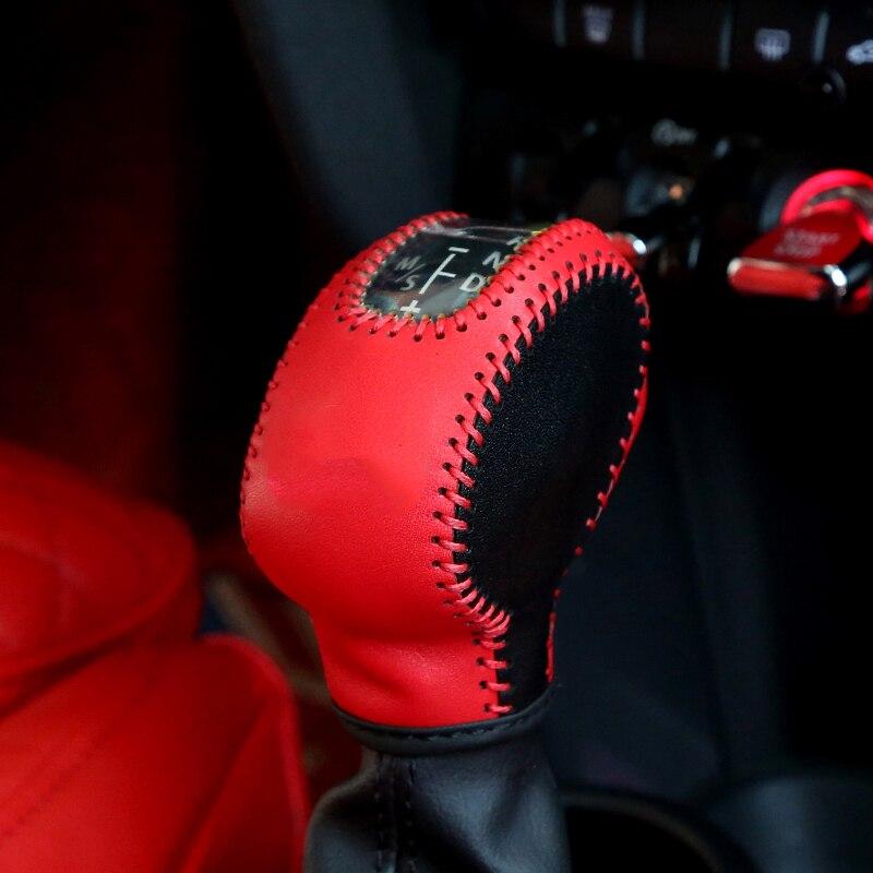 Auto Leather Gear Shift Knob Hand Brake Cover Case Decoration For Mini Cooper F54 F55 F56 F60 Countryman Car Stlying Accessories