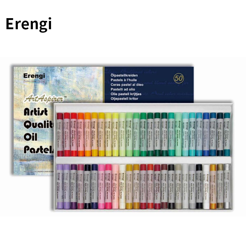 Erengi Top Level Round Shaped Crayons For Artist Professional Soft Oil Pastels 25/36/50 Colors Oil Crayons Set Art Supplies Gift