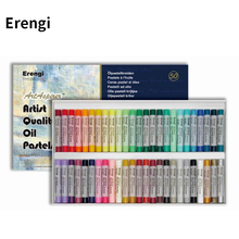 Erengi Top Level Round Shaped Crayons For Artist Professional Soft Oil Pastels 25/36/50 Colors Set Art Supplies Gift