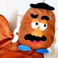 2in1 Toy story Mr. potato plush pillow cushion+blanket multiduty Multi purpose pillows birthday gift