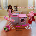 New arrival girl gift play toy doll house Laundry Center furniture for BJD simba lica monster high barbie dolls house