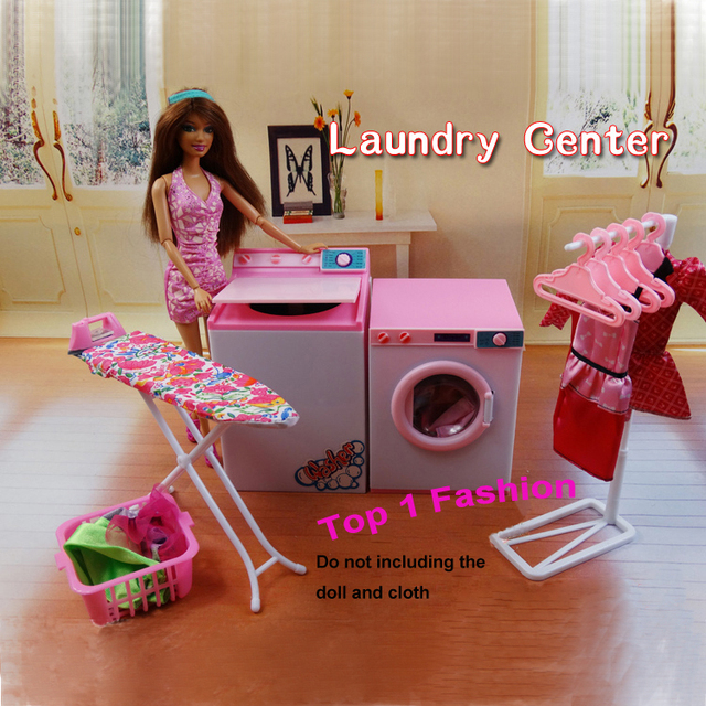 New arrival girl gift play toy doll house Laundry Center