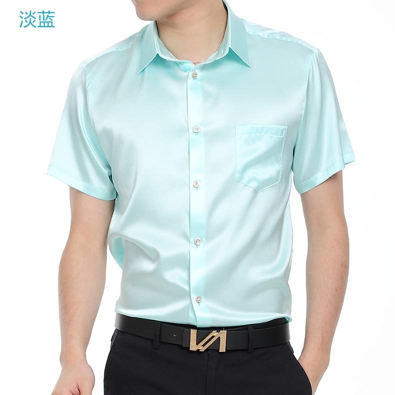 Il nuovo 2019 Della Tasca di Seta di Seta Pura Mens Camicia A Maniche Lunghe camicia di seta di estate maschio sottile di business high end