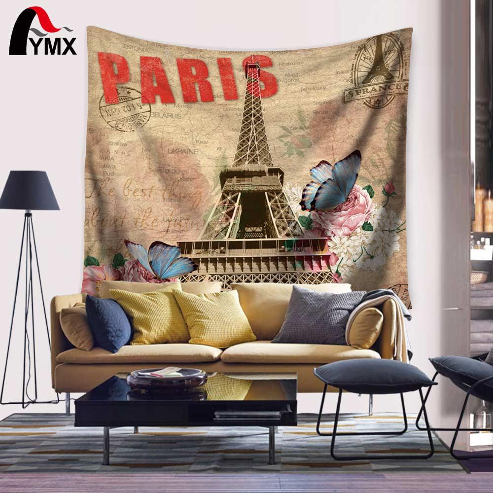 Velkoobchod Eiffelova věž Tapestry 150 * 130 / 200CM Bytový textil - Bytový textil