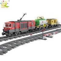 845pcs City Cargo Train Track Rail Building Blocks compatible legoingly City railway Friend Bricks Educational DIY Children Toy