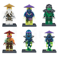 Decool 6pcs/set Ninjagoes Master Wu Morro Ronin Ghoultar Acher Cowler  figures Kids Toy
