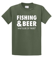 Tailored Shirts O Neck Comfort Soft Short Sleeve Mens Fishinger Beer What Else Is There Shirt