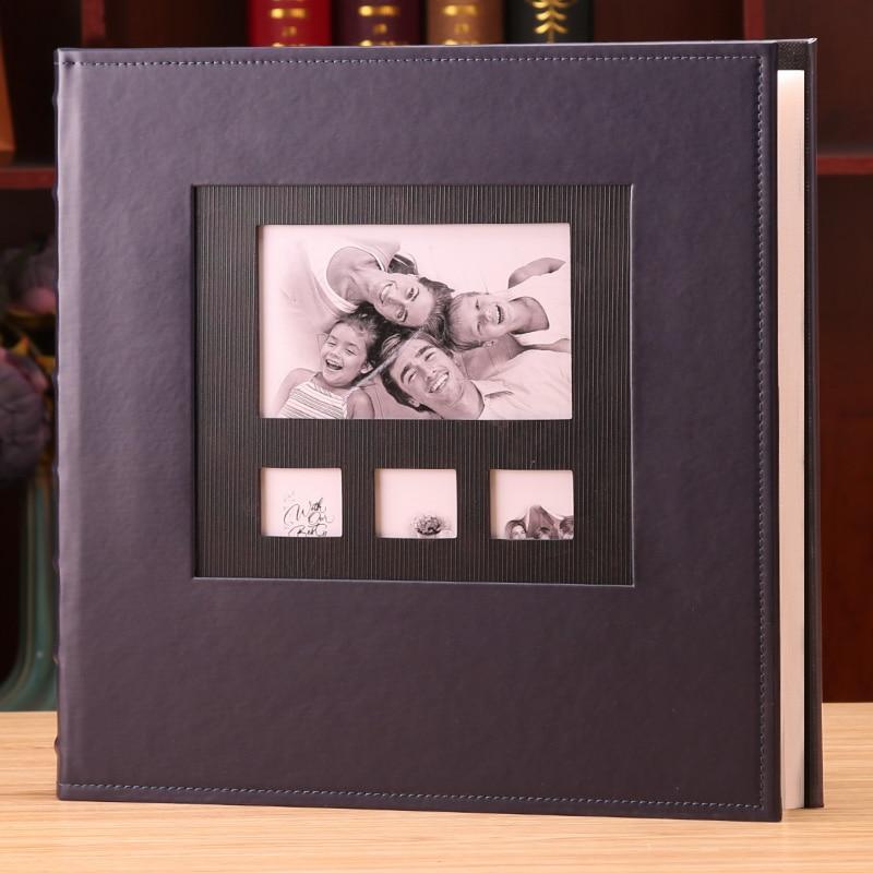 Álbum de foto De Couro Capa 6 Polegada Foto Plástico 6 Polegada 600 Bolso Grande-capacidade de Couro Crianças Da Família de Crescimento Do Bebê inserir Álbum