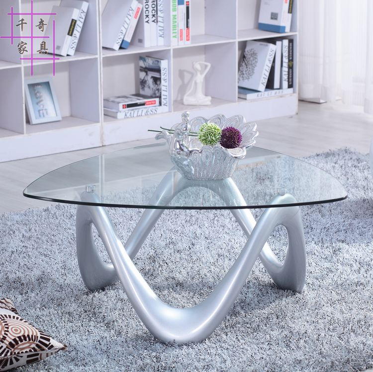 Creative tea table of the lacquer that bake. Fashion simple small family tea table. toughened glass small tea table phone sofa the round table