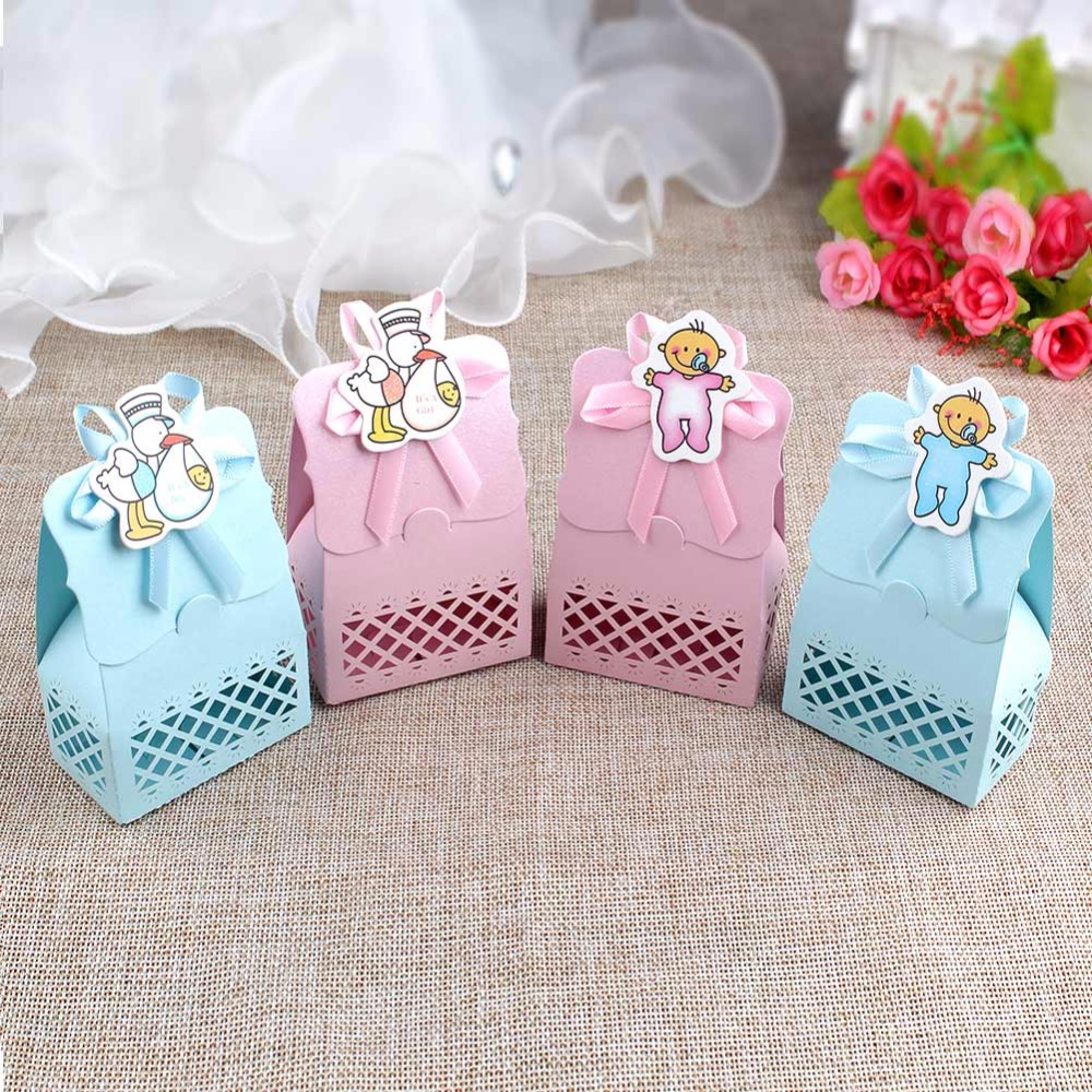 ourwarm 36pcs Paper Baby Shower Candy Boxes Party Gift Cute Boy Girl ...