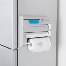 Refrigerator Cling Film Storage Racks Plastic Saran Wrap Cutter Tissue Storage Holders Kitchen Accessories Supplies Products