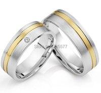 Роскошные изготовление под заказ классические инкрустацией золотом titanium здоровья его и ее западной обручальные кольца пары кольцо комплек
