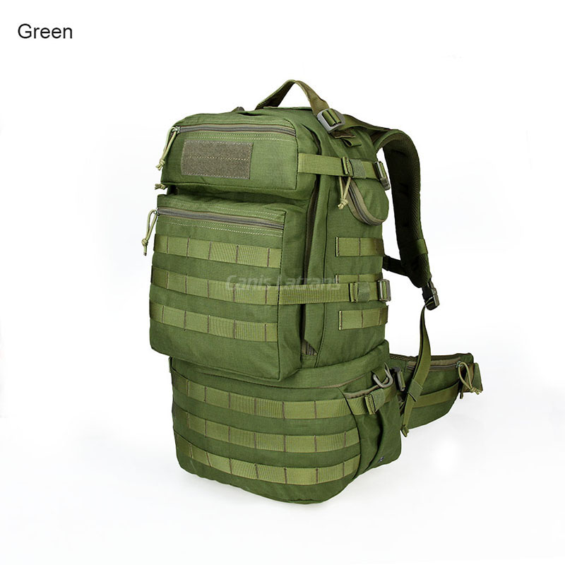 Penghantaran Percuma Ketenteraan 59L Kapasiti Besar Nylon Kalis Air Beg Lelaki 1000D MOLLE Beg PPT5-0062