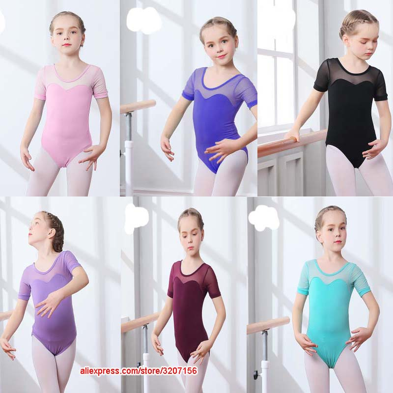 Girls Uniform Gymnastic Stretch School Leotard Dance Ballet Long Sleeve