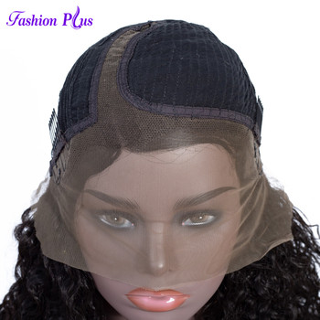 Fashion Plus Short Lace Human Hair Wigs Pre Plucked With Baby HairBrazilian Curly Remy T Lace Wigs For Black Women