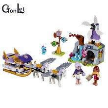 GonLeI Compatible Lepin Elves Aira s Pegasus Sleigh 41077 Building Bricks Original BELA 10413 Worriz Fairy