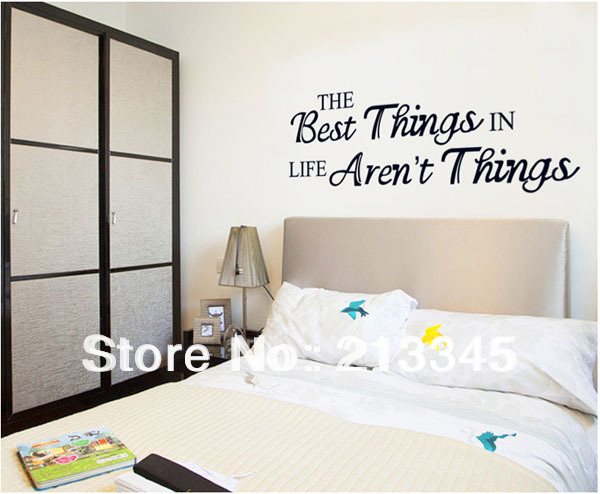 [Fundecor] wall art word stickers,THE Best Things IN Life ...