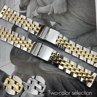 22 мм 24 мм из нержавеющей стали ремешки для часов Breitling супер океан GMT ремешок для часов твердый бренд плоский конец ремешок для часов браслет ...