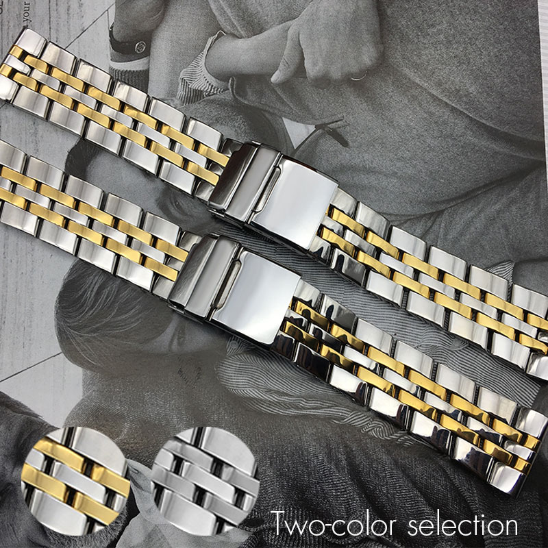 22mm <font><b>24mm</b></font> Stainless Steel Watch Bands For <font><b>Breitling</b></font> Super Ocean GMT Watch <font><b>Strap</b></font> Solid Brand Flat End Watchband Bracelet+ Tools image