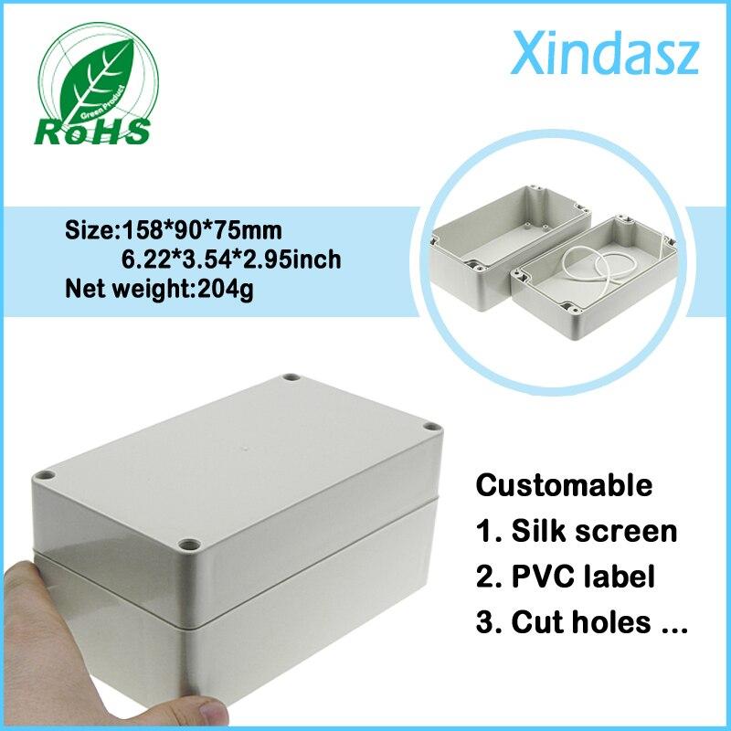 158*90*75mm waterproof plastic enclosure box electronics ip65 junction
