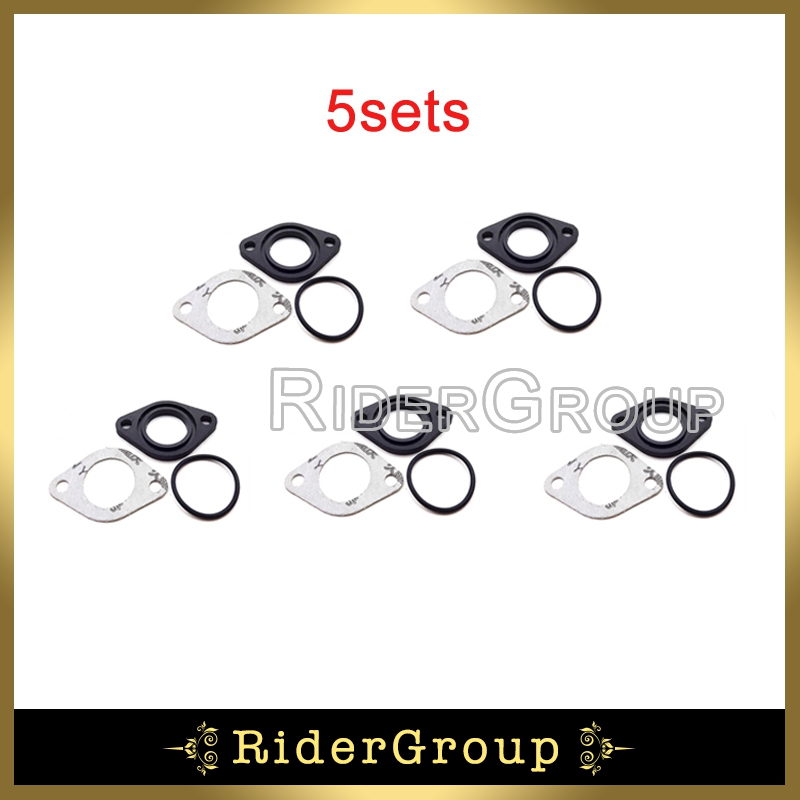 5 Sets Spruitstuk Carburateur 25mm Inlaattraject Pakking Spacer Seal Voor 110cc 125cc 140cc Xr50 Crf50 Ssr Klx110 Pit Dirt Bike Chinese Eerste Kwaliteit