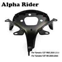 Motorcycle Frame Upper Fairing Stay Headlight Bracket Black Aluminum For Yamaha YZF R6 2003 2005 / YZF R6S 2006 2009 2008